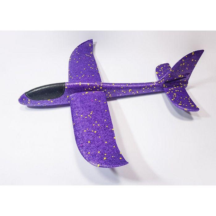 Самолетик из пенопласта 48 см - фиолетовый