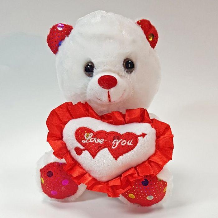 Плюшевый мишка I love you - 20 см