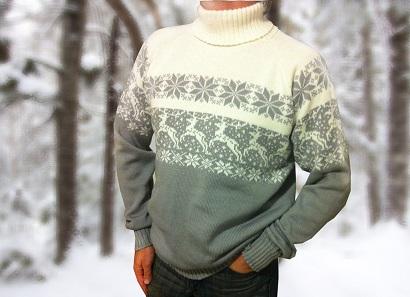 Свитер с оленями мужской - купить в магазине lanord.ru