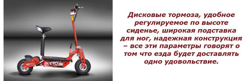 Электросамокат Evo E-1000 красный